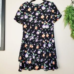 Vintage Betsy's Things Drop Waist Floral Dress